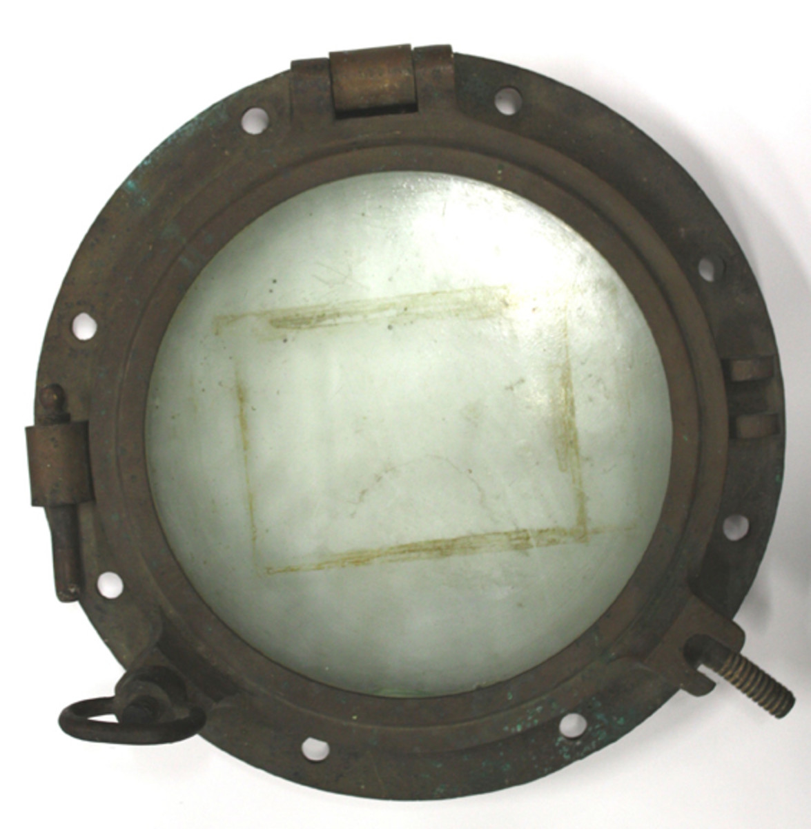 Brass and glass porthole from the S.M.S. Cormoran.