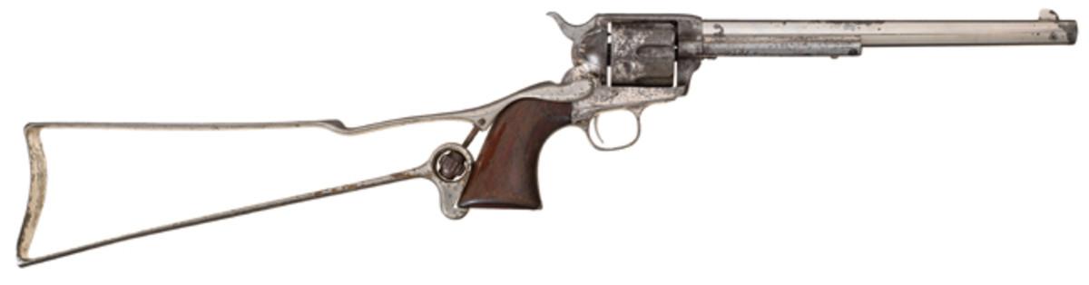 "10-Inch Barrel Colt ""Buntline Special"" Single Action Army Revolver with Skeletal Shoulder Stock"