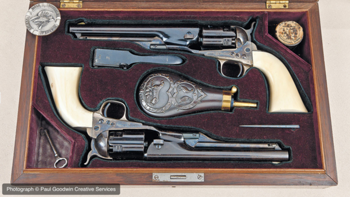 "Colt 1860 Army ""Fluted"" Cased Civilian Model Revolvers (William Gerber Family Collection of Impeccable Colts)"