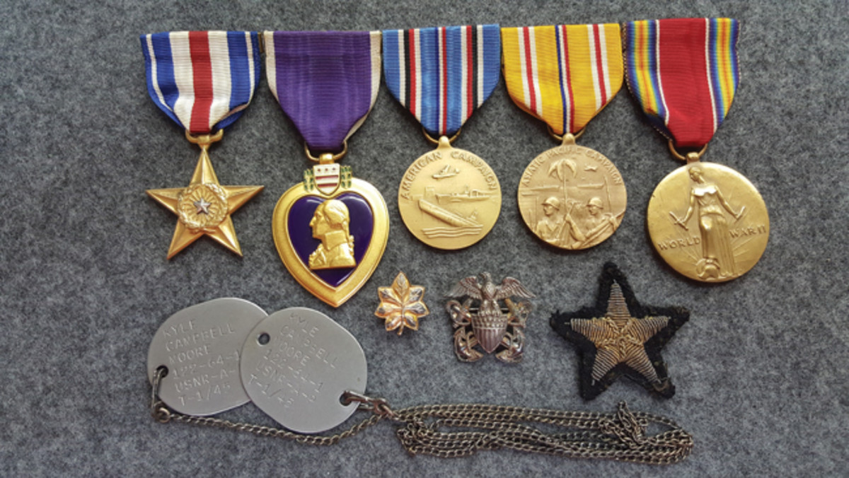 """Katherine received Lieutenant Commander Kyle Campbell Moore's Silver Star on Memorial Day, 1947 in a ceremony on the Court House lawn She said her heart was forever shattered with the lonely sound of """"Taps."""""""