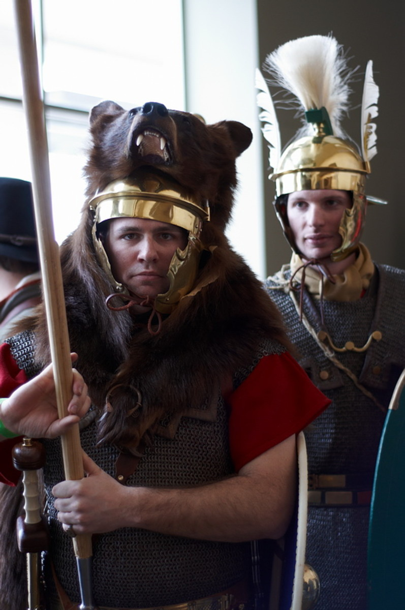 Military History Fest is not limited to covering 19th or 20th century conquests as evidenced by this pair of Roman soldiers.