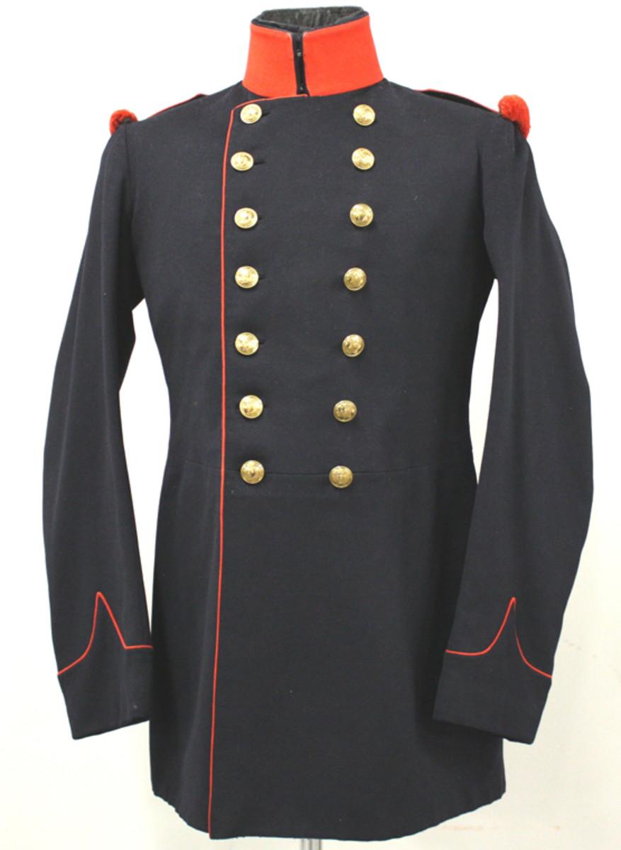 Belgian grenadier's dark blue wool coat.