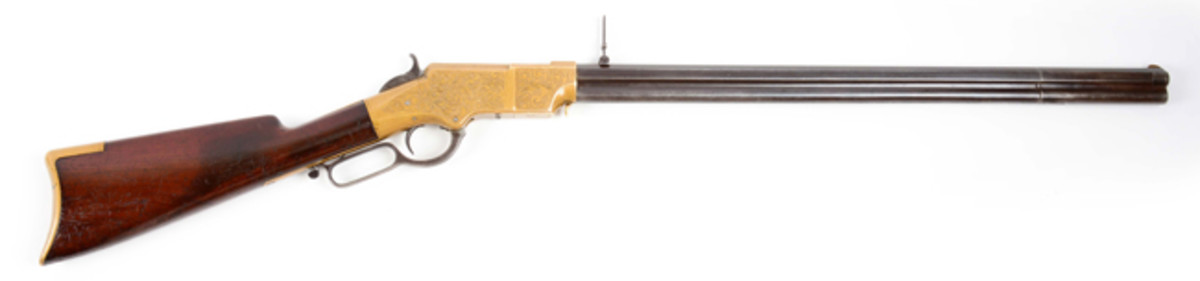 Engraved U.S. Martial Henry Lever Action Rifle