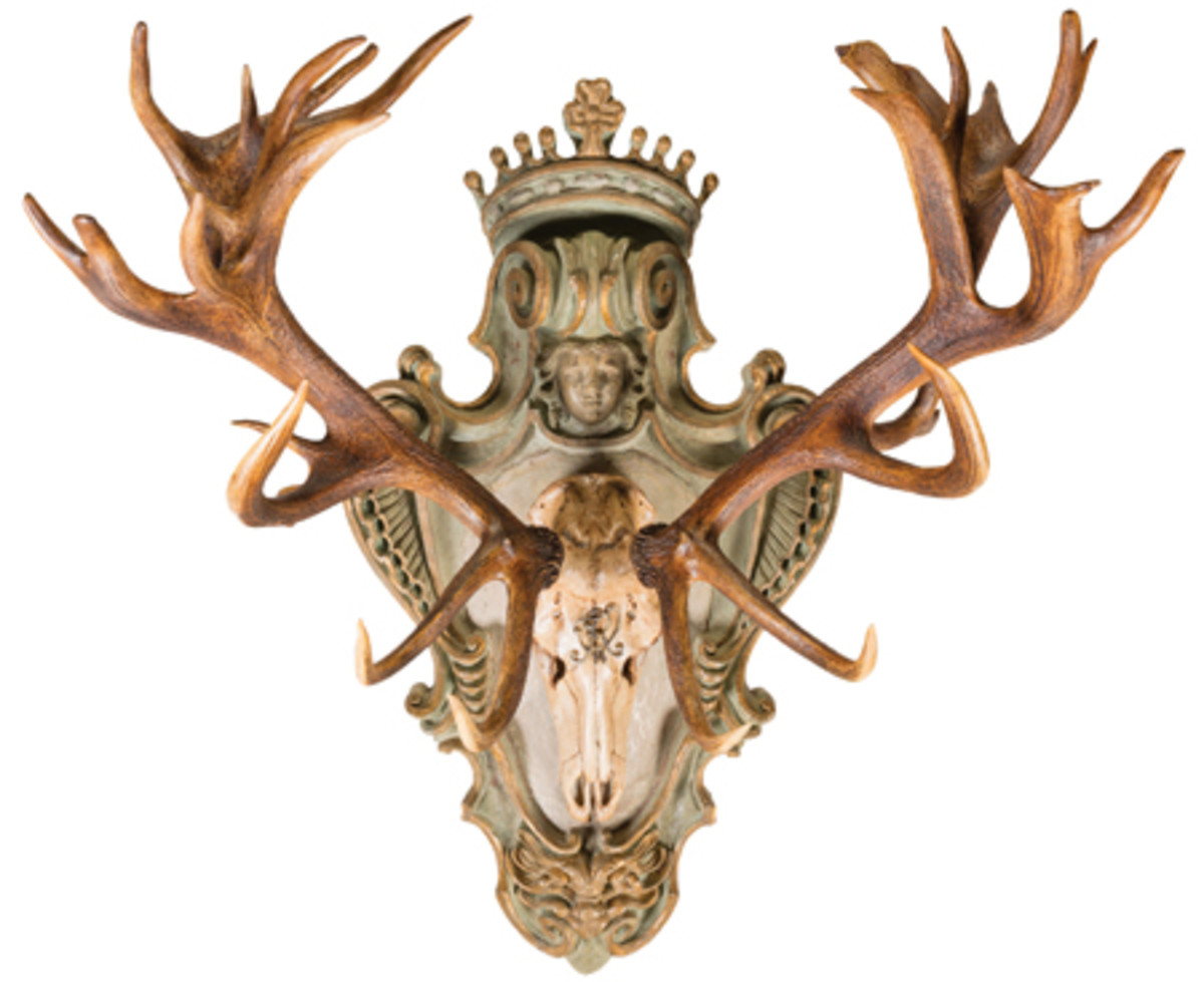 European Red Stag Wall Mount From King Frederick William III