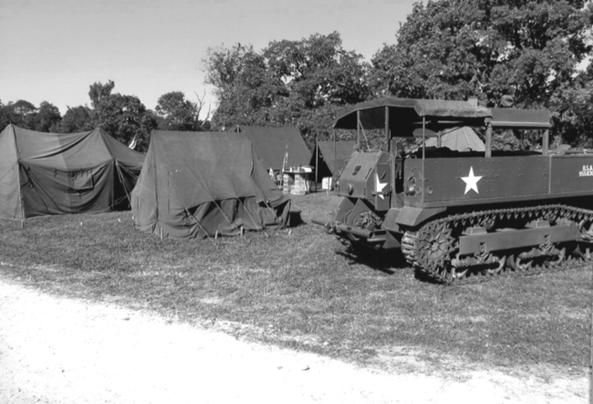 It is not uncommon to see tracked vehicles at events in Texas.