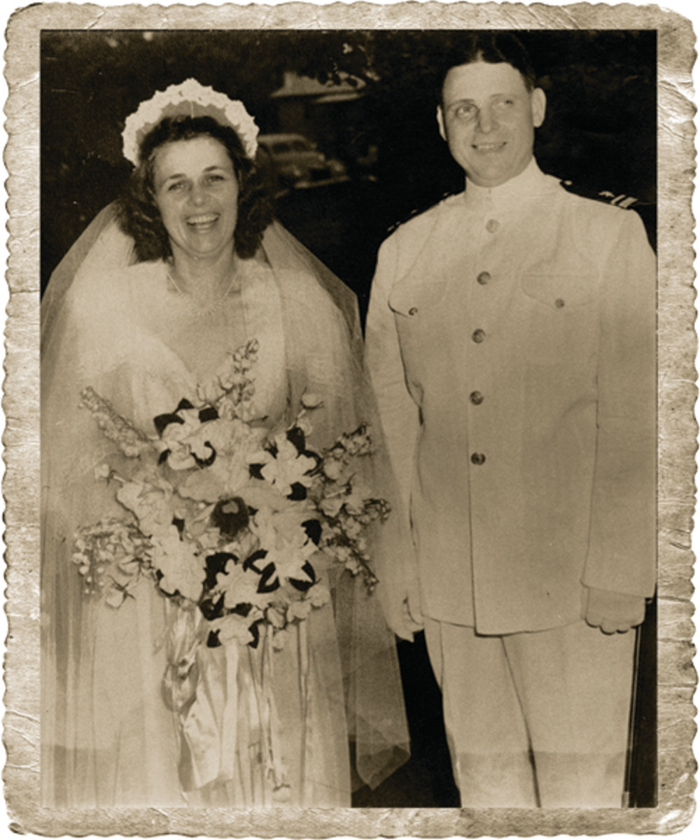 """Kyle Campbell Moore and Katherine Davis married July 23, 1942 , in one week Kyle Moore would report to the USS Indianapolis, his ship. Kyle's three year relationship with Katherine and the """"Indie"""" has now begun."""