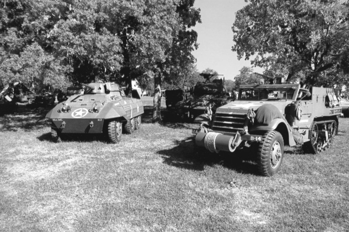 Armor commonly seen at Texas events includes half-tracks, light tanks and armored cars.
