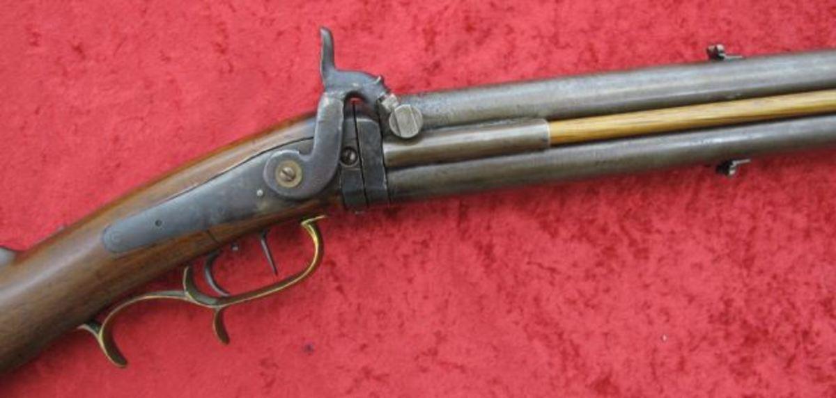 J. Coleman Freeport IL. Swivel Breech perc. gun $1,925