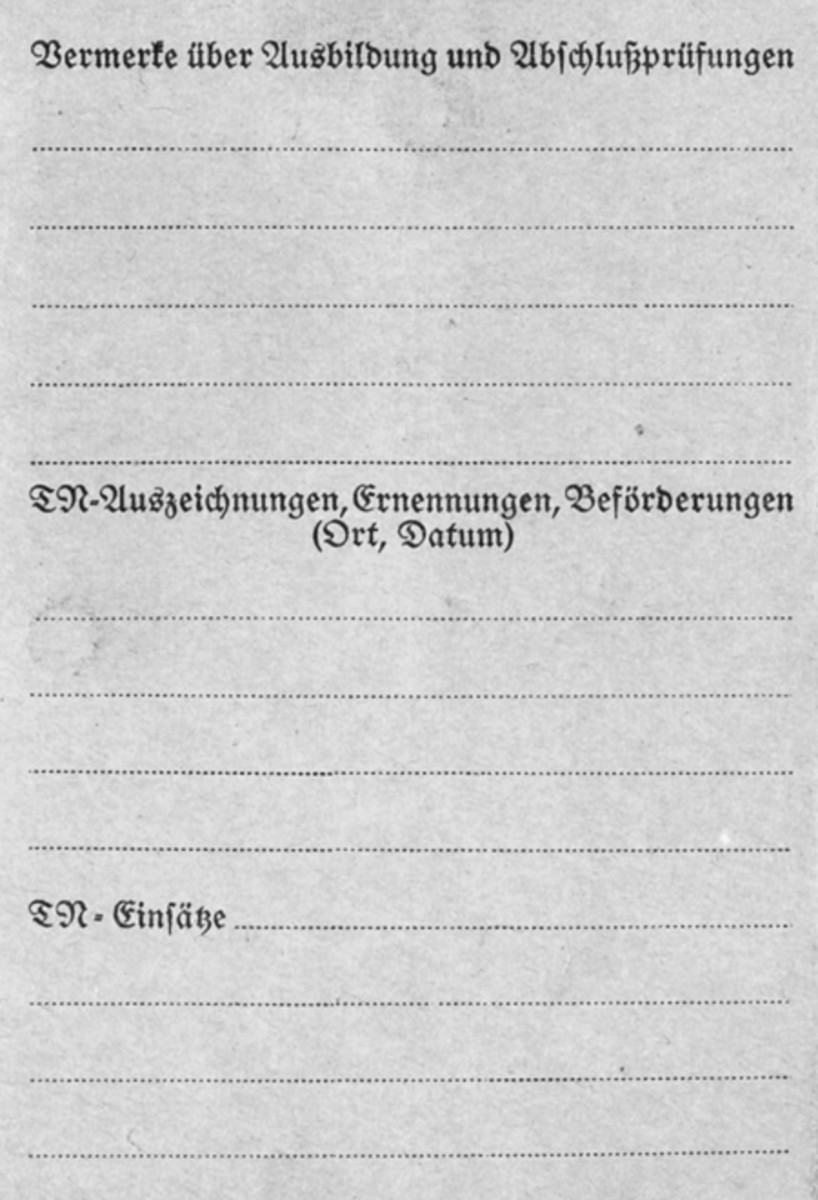 Back cover of the card.