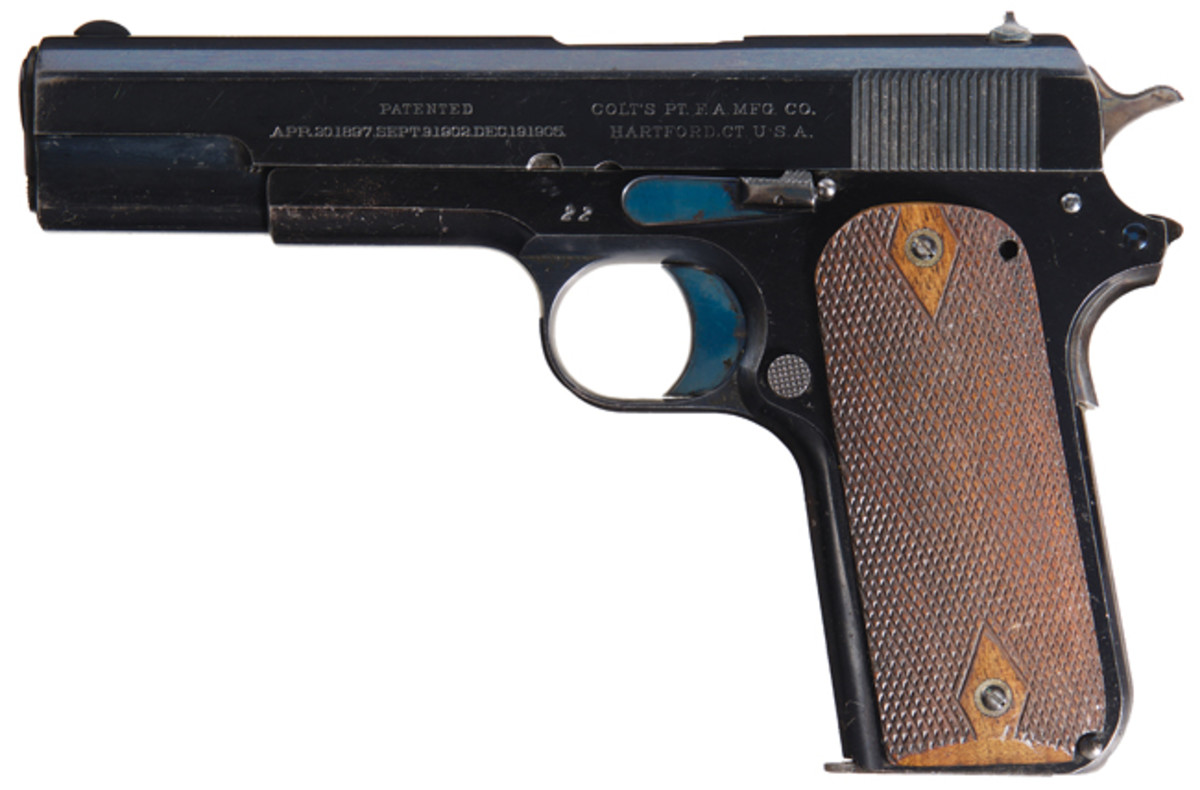 "Early Production Colt Model 1909 Serial Number ""22"" 45 ACP Semi-Automatic Test Trial Pistol with Factory Letter"