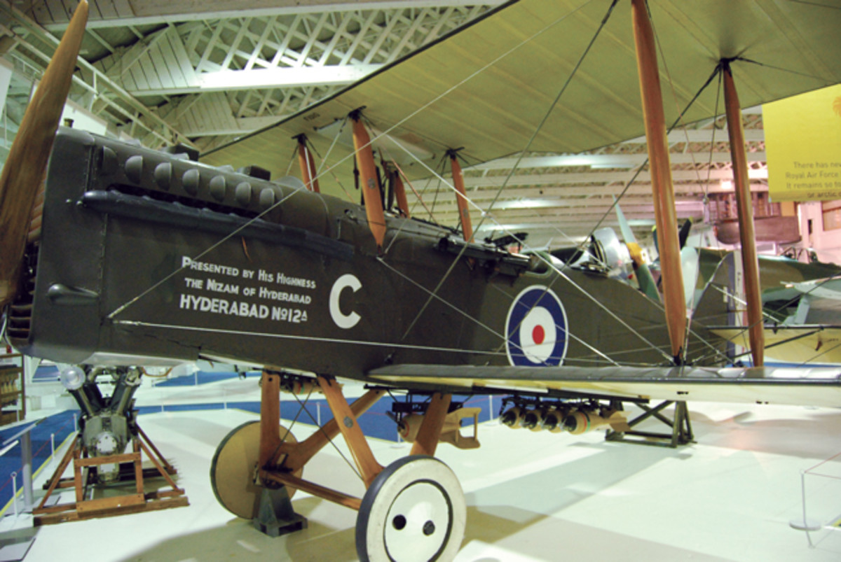 "A World War I British Airco DH.9A bomber with the original pattern of an aircraft roundel. When used as aircraft or vehicle identification, this style has become universally known as a ""roundel""— whether round or not."