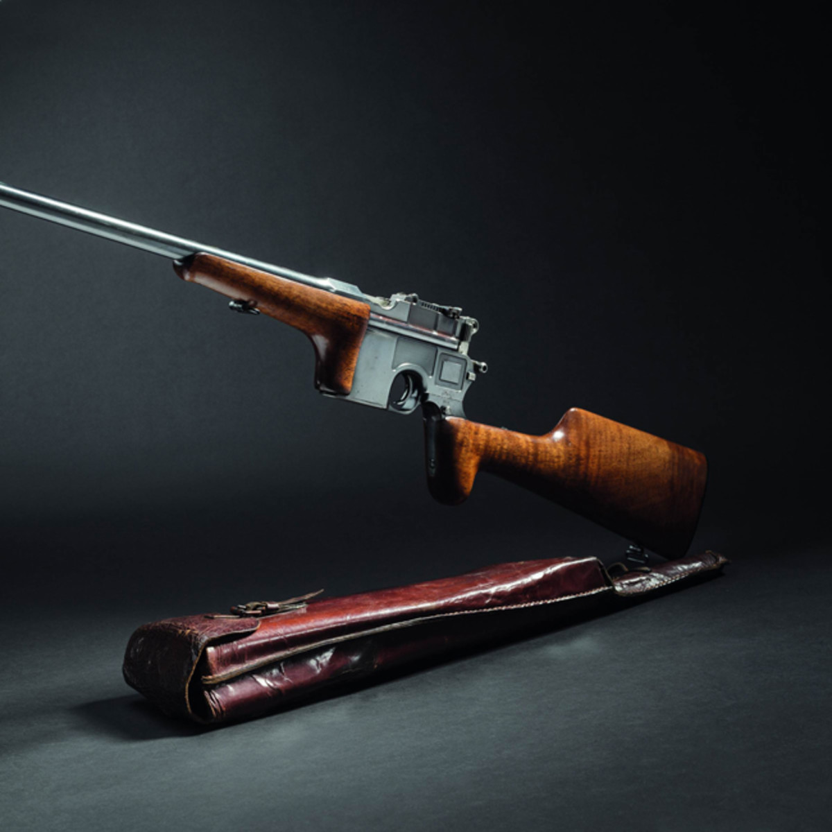 Original long-barrelled Mauser C 96, self-loading hunting carbine, circa1905.