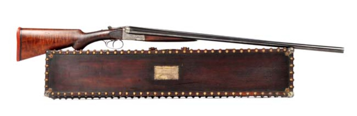 Francotte Grade A Trap Boxlock Shotgun Attributed to Theodore Roosevelt