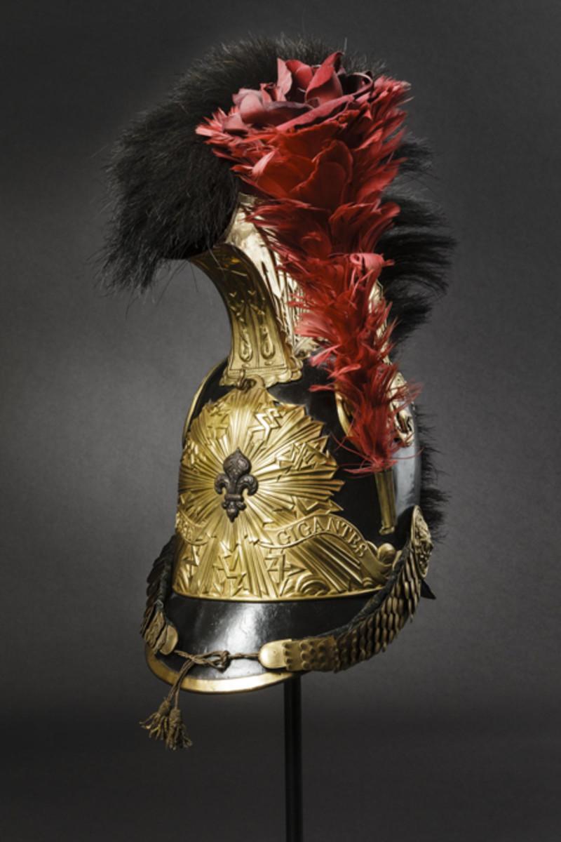 A helmet M 1814/15 of the Chevau-Légers de la Garde Royale, France.