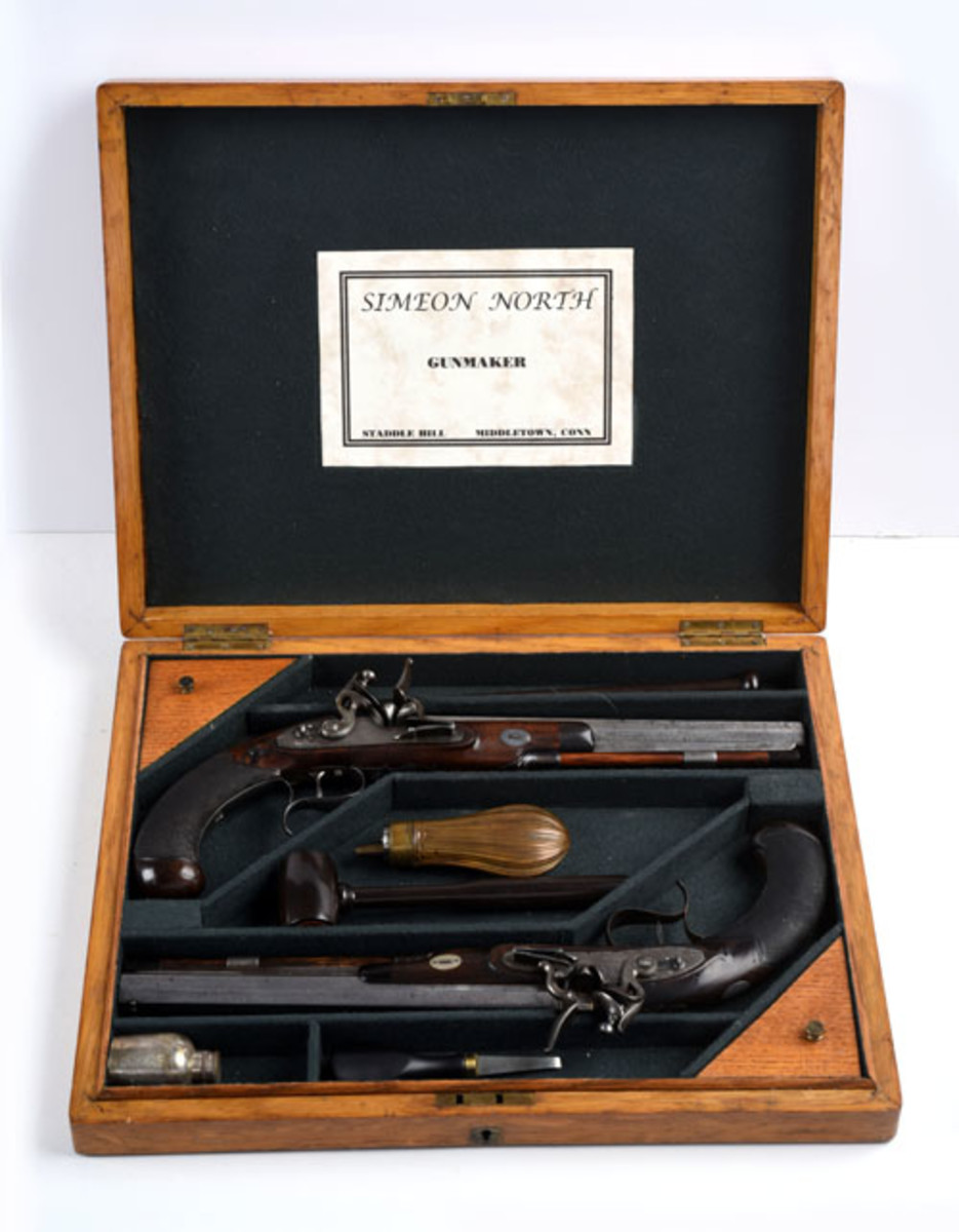 Cased Set of Simeon North Dueling Pistols