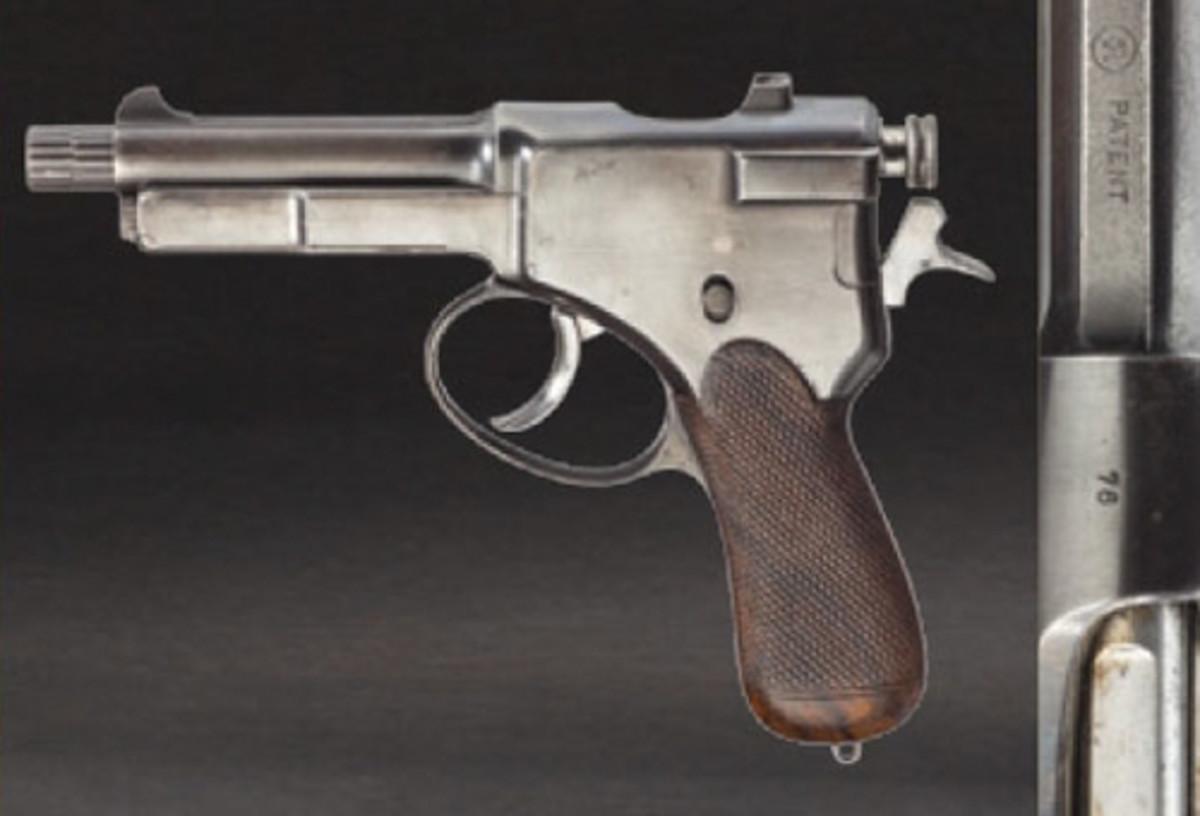 A self-loading pistol Roth-Theodorovic Mod. 1901, field trials.