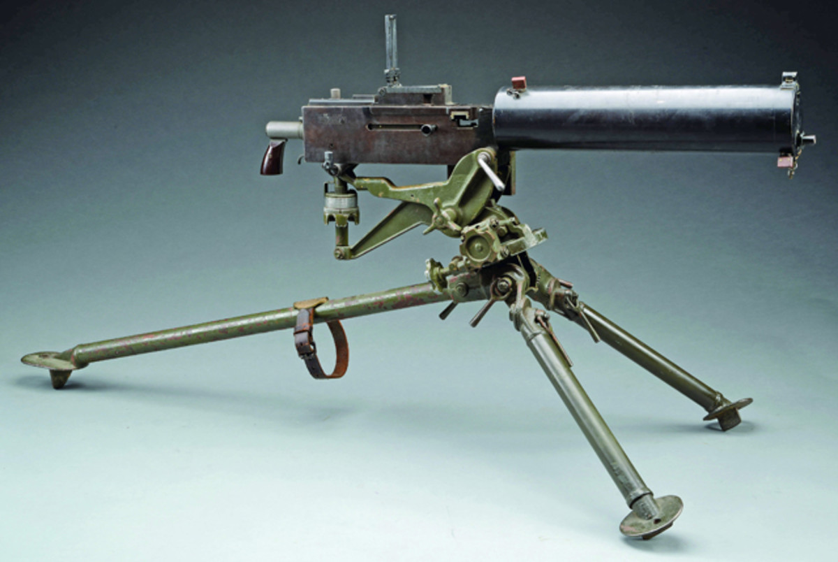 Outstanding Low SN Browning Mod. 1917 Westinghouse Machine Gun. Presale estimate of $18-22,000. Sale price $38,000. From the Evergreen Collection of Oregon.