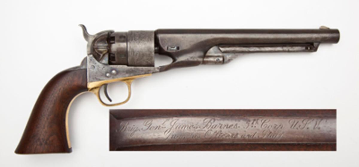General James Barnes Inscribed 1860 Army Revolver ($4,500).