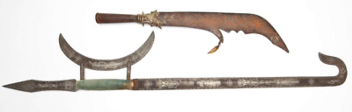 19th Century Chinese Polearm & Shuang Gau Sword ($2,300).