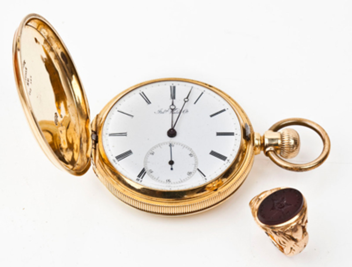 18K West Point 1868 Graduation Pocket Watch & Ring ($2,100).