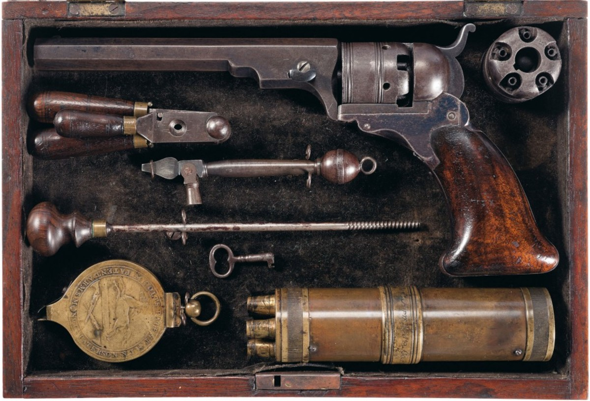 Lot 1086 - Cased Presentation Colt No. 3 Belt Model Paterson Revolver with Original and Full Compliment of Accessories - $275,000-$450,000
