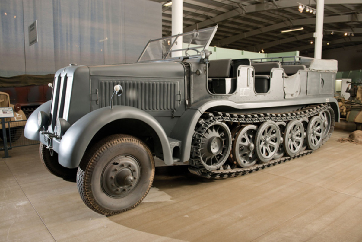 WWII Daimler-Benz DB10 12 ton Half-Track Primer Mover, among the scarcest of all German equipment, sold for a remarkable $200,000 hammer price at Auctions America's sale at the National Military History Center, Dec. 1 in Auburn, Ind.