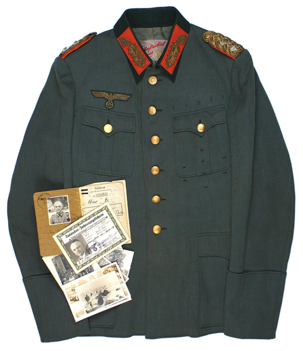 Important grouping of items from German Gen. Lt. Dr. Franz Beyer, World War II ($10,012).