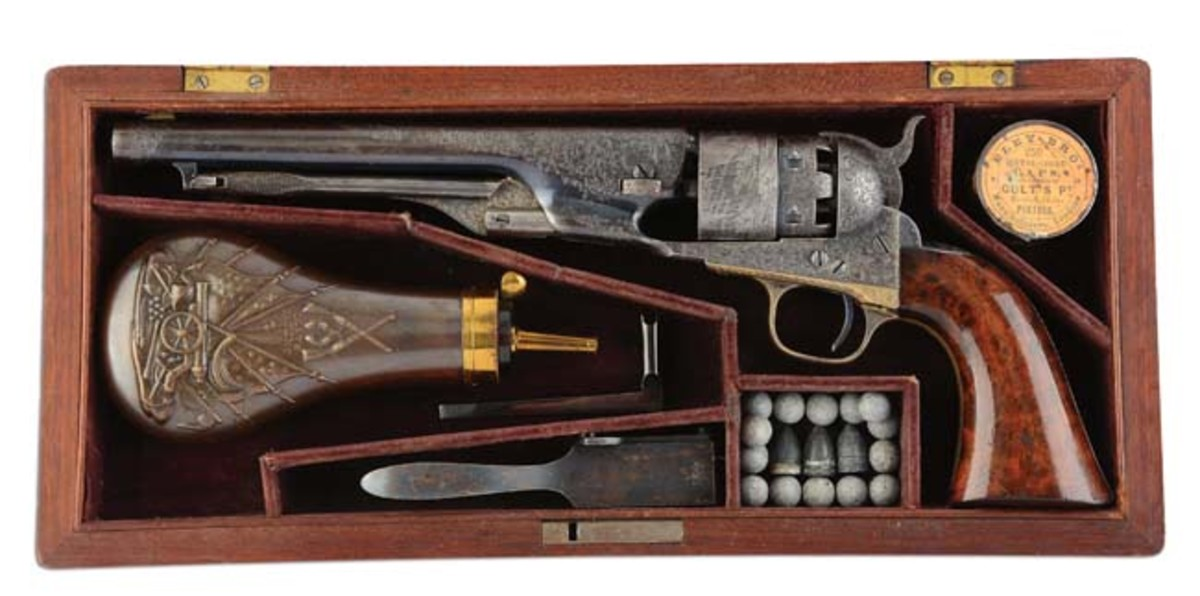 Historical ultra-deluxe factory-engraved 1860 Colt Army model inscribed and presented to Major General W.S. Rosecrans. Sold for $156,000