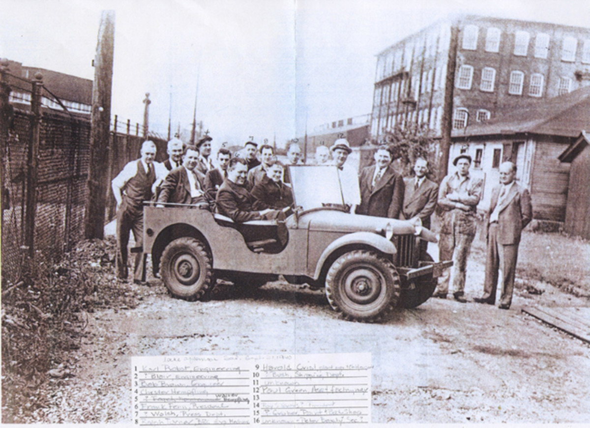 "It is said that ""success has many fathers"" and in the case of the ""jeep"" the list of those that have claimed or are sometimes credited with ""fathering the jeep"" include: Col. William F. Lee (U.S. Army, Infantry); Charles Harry Payne, sales (American Bantam); Frank Fenn, President (American Bantam); Charles Probst, design engineer (American Bantam); Harold Crist, factory manager (American Bantam); Delmar ""Barney"" Roos, chief engineer (Willys-Overland) ... any more? (PRNewsFoto/Historic Vehicle Association)"