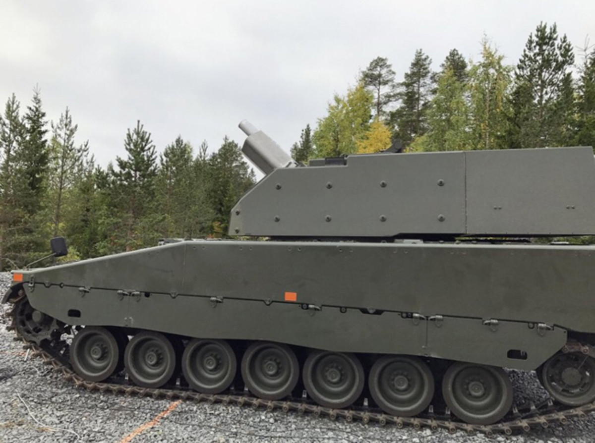 Sweden's new CV9040 undergoing testing of the Mjolner twin 120 mm mortar turret. #BAESystems, #Hagglunds, #CV9040, #MilitaryVehicle, #Armor
