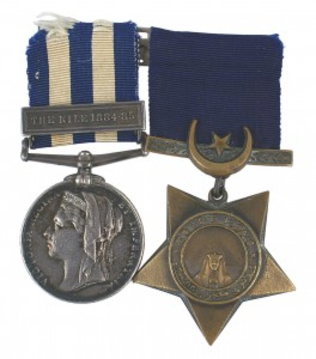 Other noteworthy items included a British medal bar with two medals awarded for the Sudan campaign in the 1880s, one showing a likeness of Queen Victoria and a sphinx and one with a sphinx and pyramids, both mounted on a pin-back bar ($519 the pair)