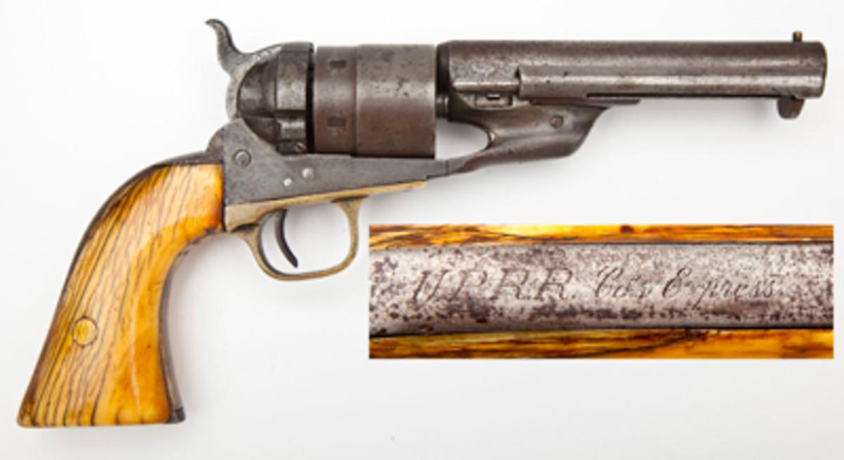 UPRR Inscribed Colt 1860 2nd Model Richards Conversion ($2,400).