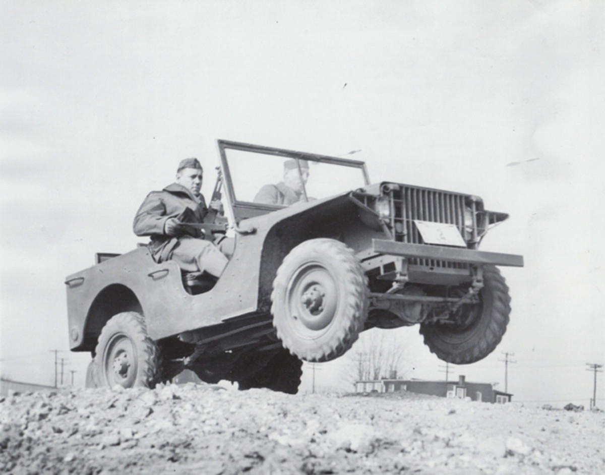"American Bantam delivered the first pilot model to the U.S. Army on Sep. 23, 1940. Willys-Overland delivered the first of two pilot model ""Quads"" to the Army on Nov. 11, 1940. Ford delivered its two pilot models GP-No. 1 and GP-No. 2 on Nov. 23, 1940. Of theses five pilot models produced only the two Ford pilot models are known to survive making the 1940 Ford Pilot Model GP-No. 1 ""Pygmy"" America's oldest known ""jeep."" (PRNewsFoto/Historic Vehicle Association)"