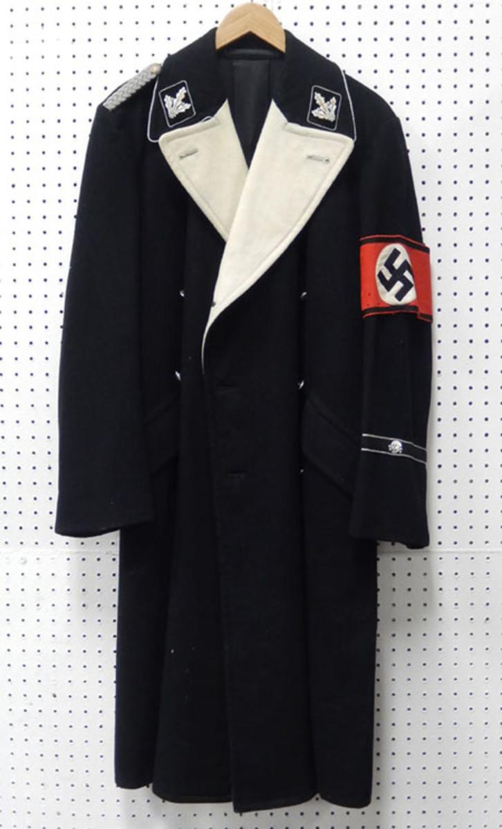 WWII German Nazi SS long coat, wool
