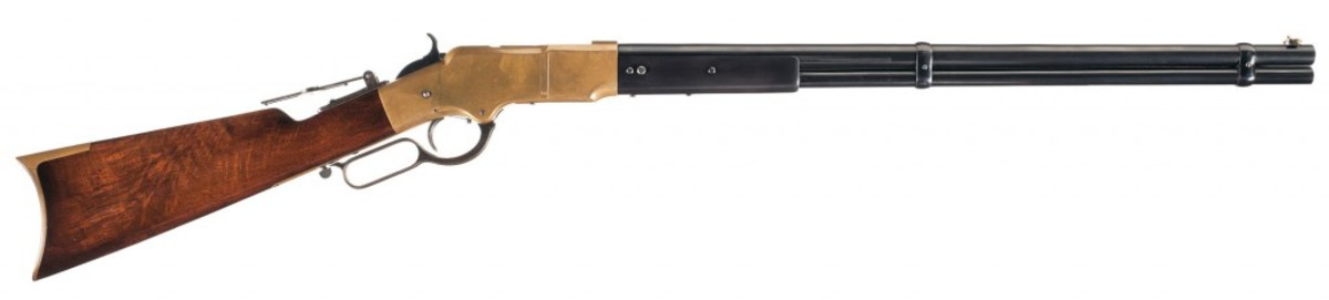 Lot 1044 - Fully Documented Briggs Patent Henry Rifle Formerly of the Winchester Museum Collection - $180,000-$275,000