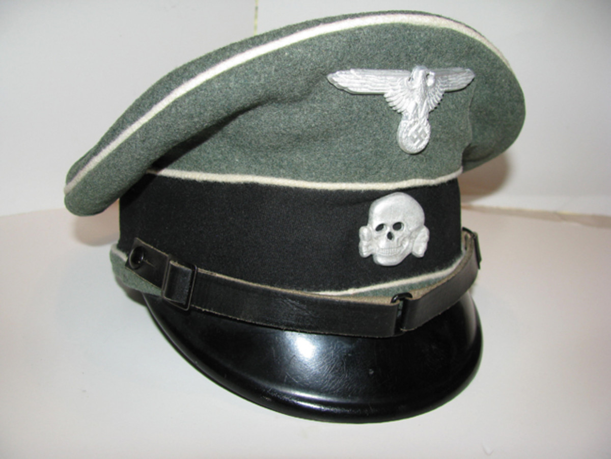A Waffen SS visor cap was well-constructed and carried subdued insignia mounted on the front. Mark Pulaski Collection