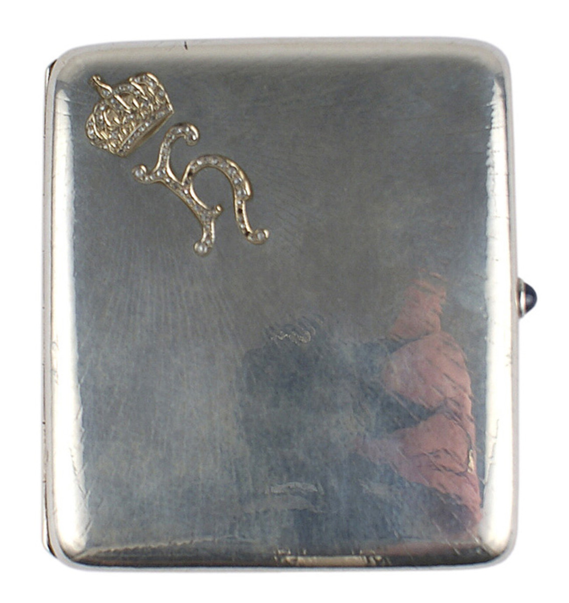 The personal silver cigarette case of Princess Hermine Reuss of Greiz, second wife of Kaiser Wilhelm II ($2,440).