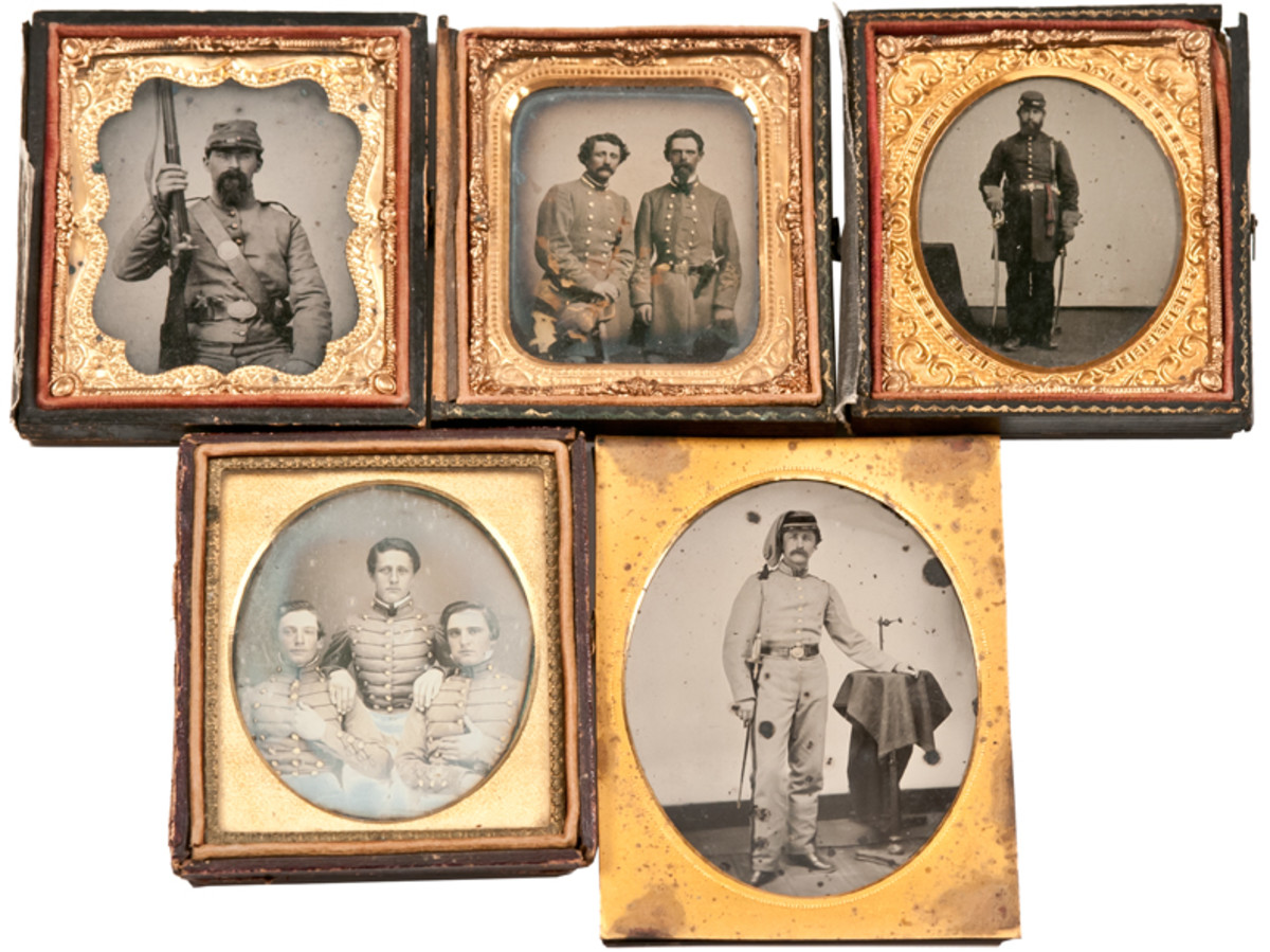 A selection of rare Civil War Confederate images will be offered for sale in the two-day Dec. 14-15 auction. Images of Union soldiers are also be included in the sale.