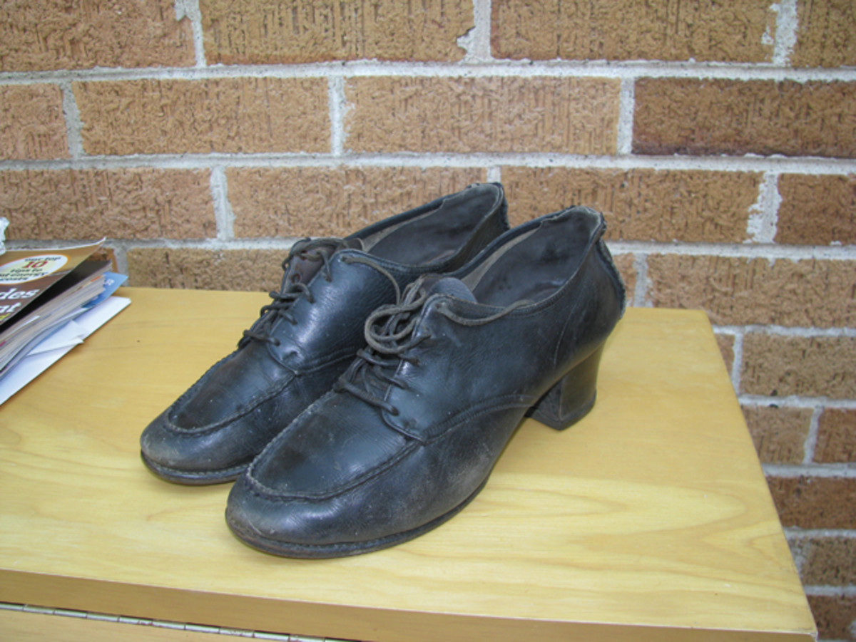 Kitty's shoes, purse, and uniforms were all tailor-made and well-marked with her name.
