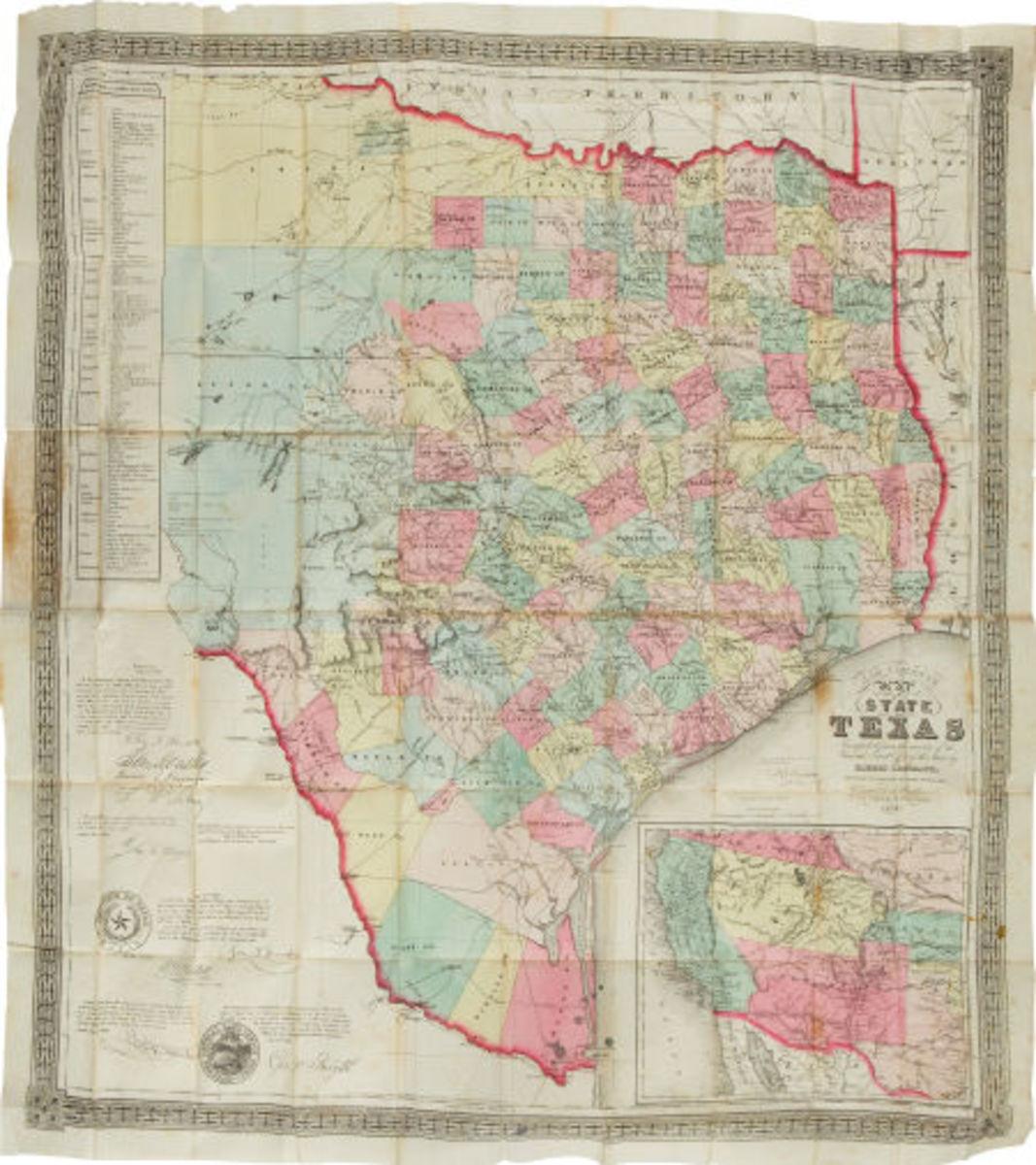 Jacob De Cordova. De Cordova's Map of Texas.