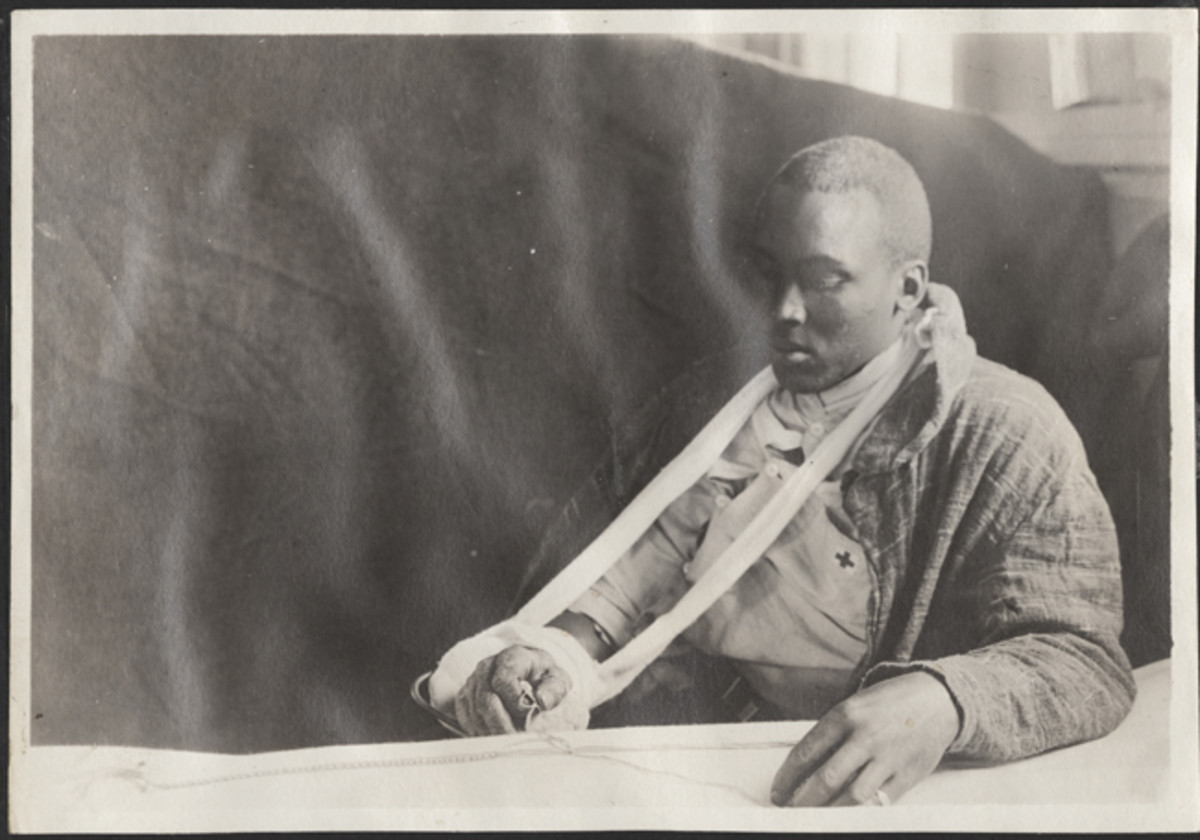 Many soldier-made pieces of fabric art were done as occupational therapy.