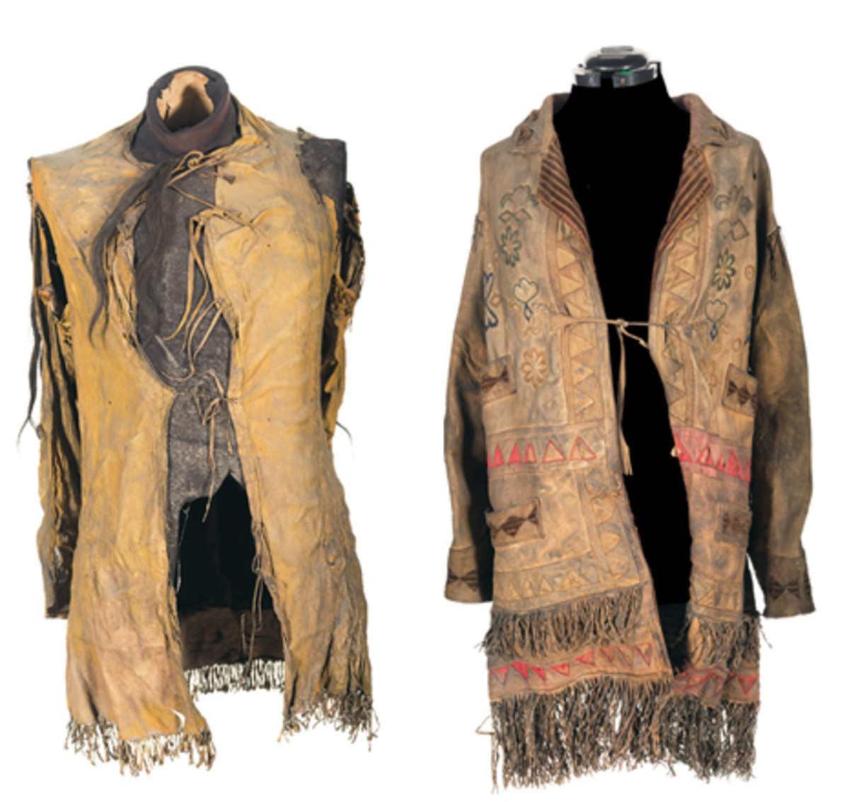 Documented Historic Indian Wars Period Elk skin Jacket Attributed as the Lt. Col. George Armstrong Custer Death Jacket Accompanied by Buckskin Shirt Attributed to Victor at the Battle of Little Big Horn Lakota Tribe Chief.
