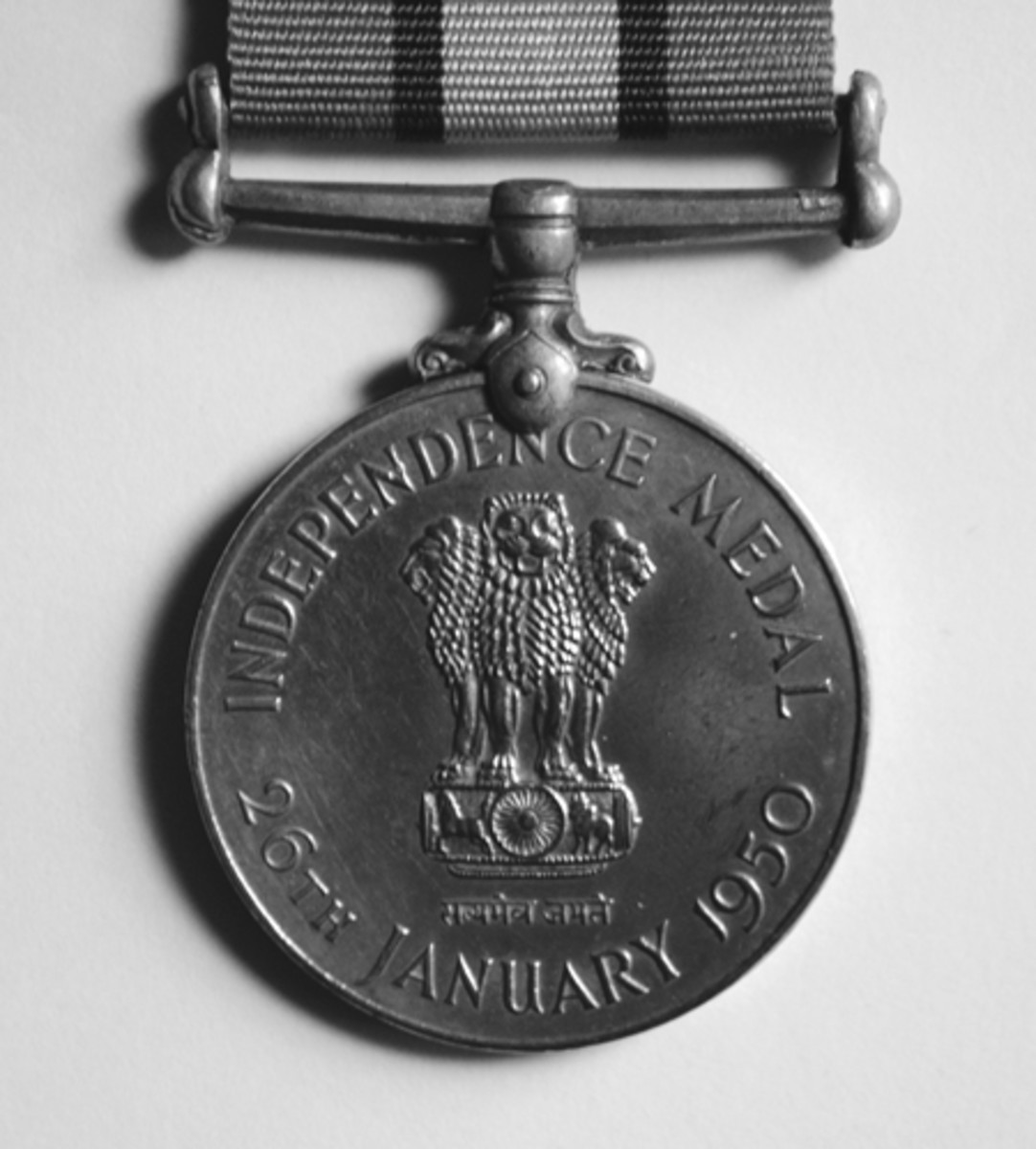 Obverse of Police Independence Medal of 1950.