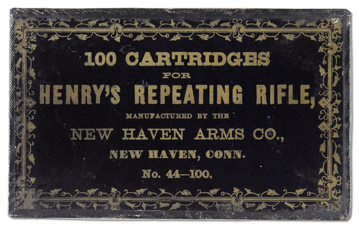 "100-count Henry ""Black Box"" cartridge pack, sold for $46,000."