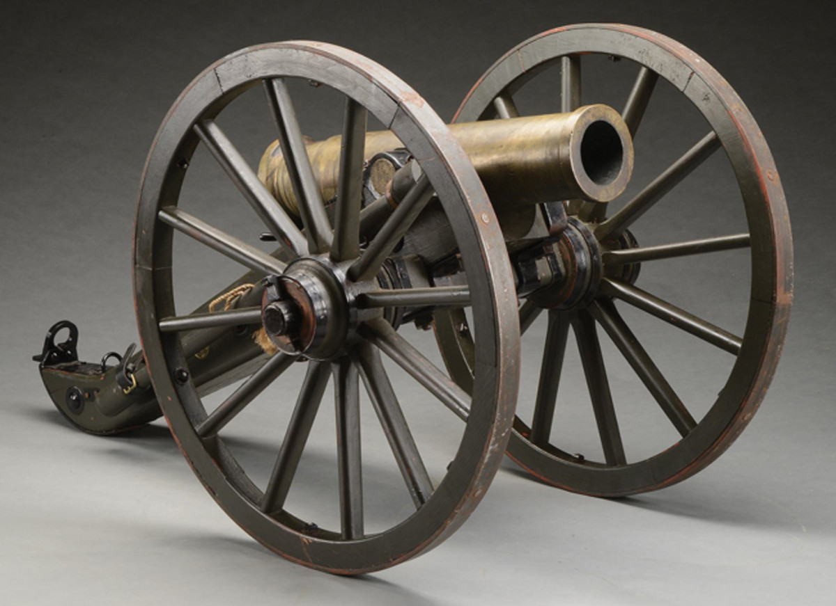 1863-dated bronze 12-pounder Mountain Howitzer
