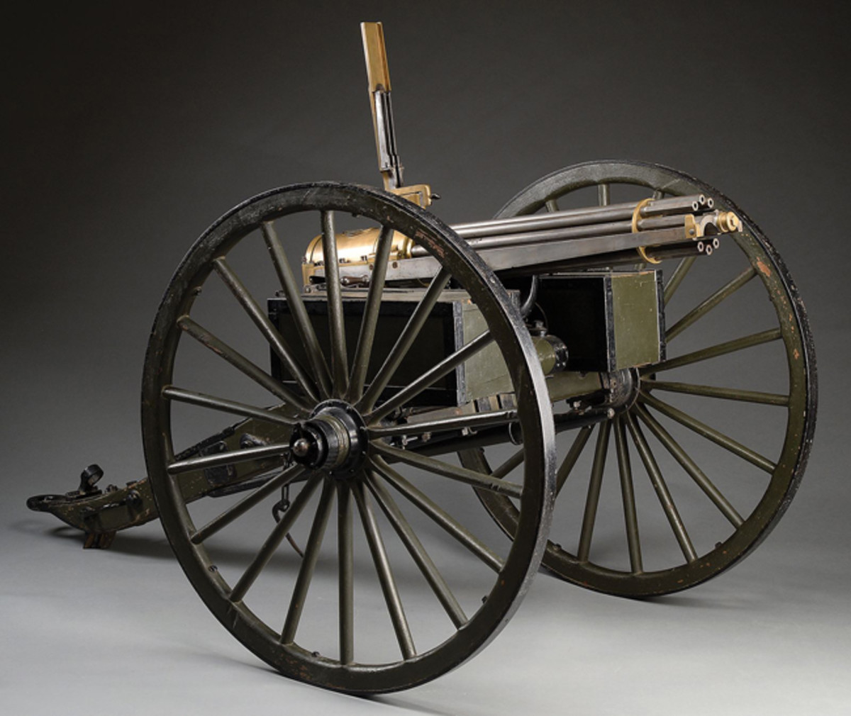Colt Model 1875 Gatling gun on an original carriage