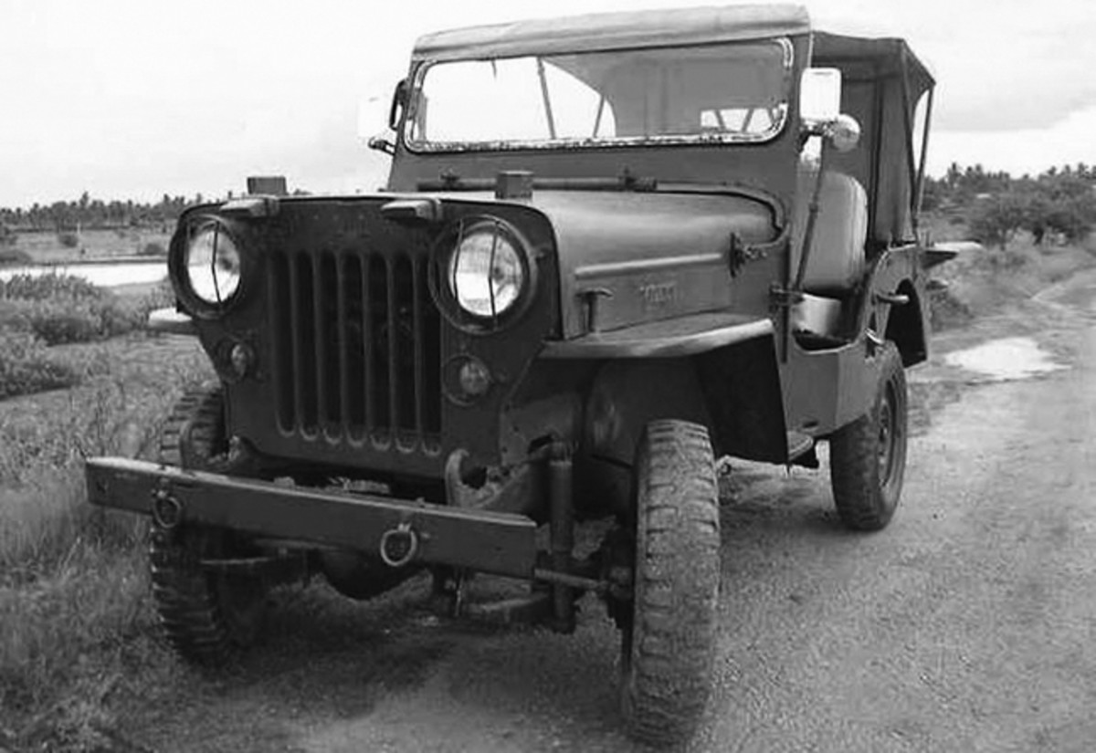 The Willys CJ3B, went into production for the U.S. Military as the M606, some of which were modified as ambulances by extending the body in the rear, though retaining the same wheelbase as standard units, and installing stretcher racks. The Indian-built Mahindra CJ3B and CJ4 were also modified in this fashion, and all models served in the Vietnam War.
