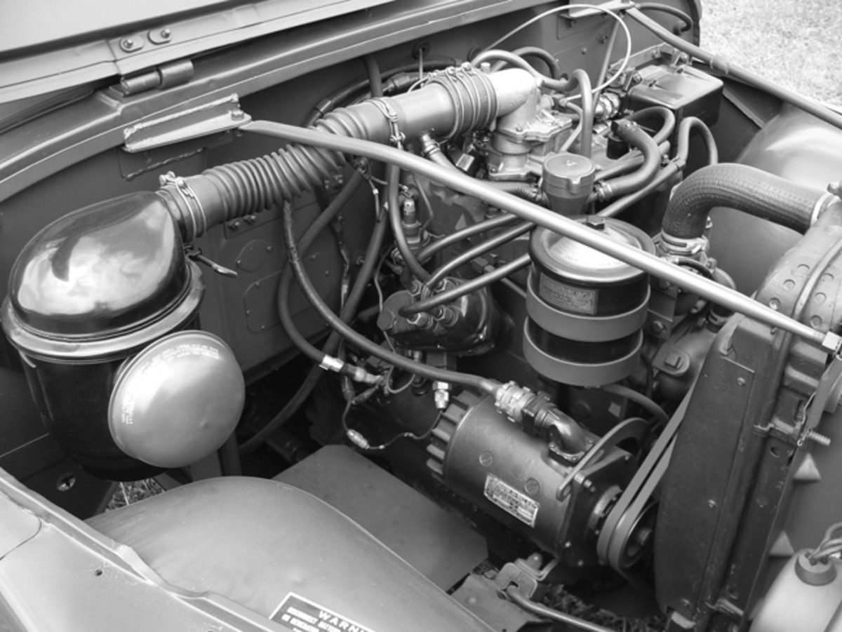 A standard Willys MD F-head 4-cylinder engine powered the M170. Maximum speed is about 55mph.