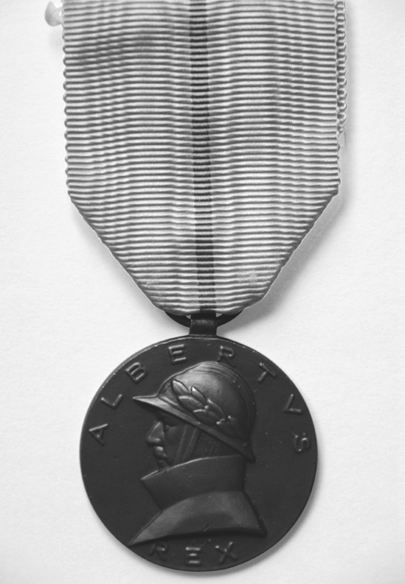 Obverse of the Commemoration Medal for Soldiers Serving 1909-1934.