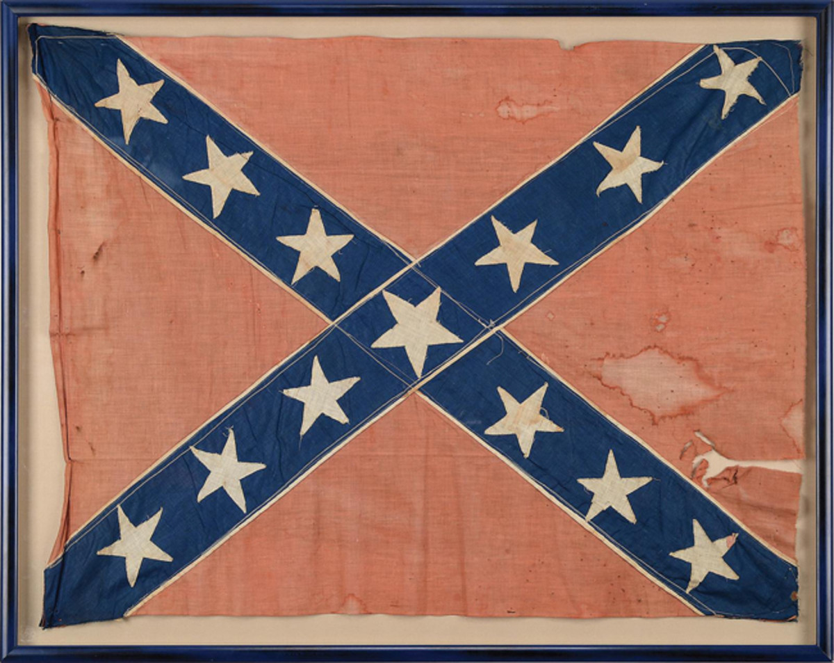 Confederate battle flag from Freeman's Tennessee Artillery